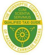 Badge du guide de Londres qualifié par 'The worshipful company of hackney carriage drivers'